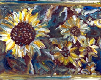 Tribute to VAn GOgh Sunflowers Fine ARt Painted Photography