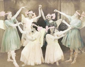 Princess Fairies Ballet Vintage Photo print