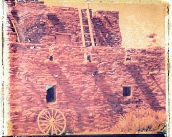 Grand CAnyon Indian Adobe House Transfer Photograph