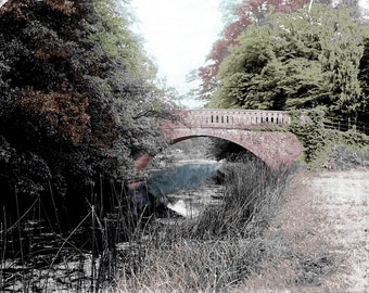 Country Bridge Peaceful River Tinted Fine Art Photography