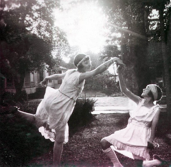 Isadora Dancers 2 Teen Girls Ballet at Sunset Greeting Card