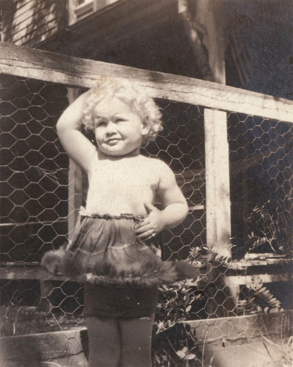 vintage photo Little Baby Edna Ballerina 1921