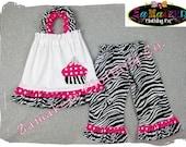 Custom Boutique Clothing Zebra Dots Pillowcase Tunic Dress Top Ruffle Pant Outfit Set 3 6 9 12 18 24 month size 2T 2 3T 3 4T 4 5T 5 6 7 8