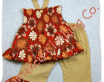 Girl Toddler Clothes Baby Custom Boutique Clothing Floral Top Ruffle Pant Outfit Set 3 6 9 12 18 24 month size 2T 2 3T 3 4T 4 5T 5 6 7 8