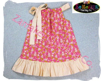 Girls Pillowcase Dresses - Spring Garden Flowers - Pillowcase Dresses in Sizes 3, 6, 9, 12, 18, 24 month, 2, 2t, 3t, 3, 4, 4t, 5, 6, 7, 8