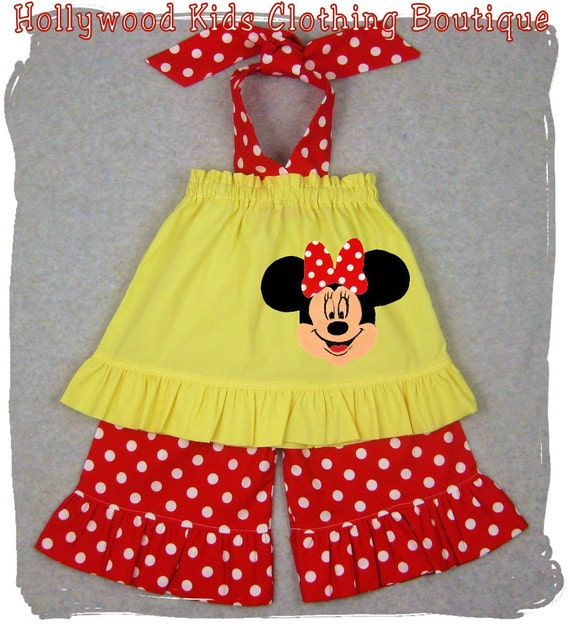 Custom Boutique Clothing Yellow Pillowcase Dress Top Polka Ruffle Pant Bottom Outfit Set 3 6 9 12 18 24 month size 2T 2 3T 3 4T 4 5T 5 6 7 8