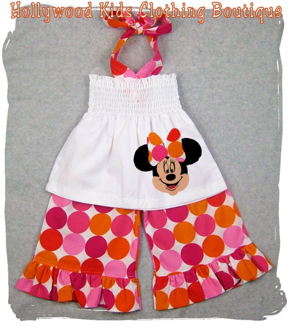Custom Children Boutique Unique Handmade Cute Little Newborn Infant Toddler Baby Girl Clothes Clothing Disco Dot Minnie Mouse Smocked Tunic Dress Top w/ Matching Ruffle Pant Bottom Outfit Set 3 6 9 12 18 24 month size 2T 2 3T 3 4T 4 5T 5 6 7 8