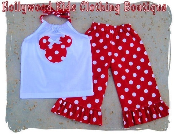 Custom Boutique Clothing White Minnie Mouse Pillowcase Dress Top Red Ruffled Pant Outfit Set 3 6 9 12 18 24 month 2T 2 3T 3 4T 4 5T 5 6 7 8