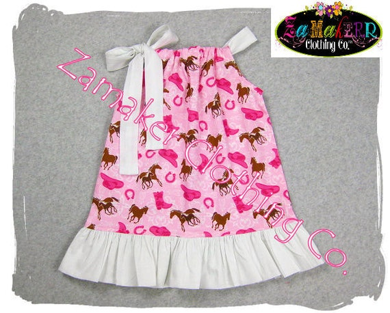 Pillowcase Dresses - Cowgirl On The Farm - Girls Pillowcase Dresses Boutique in Sizes newborn - 8