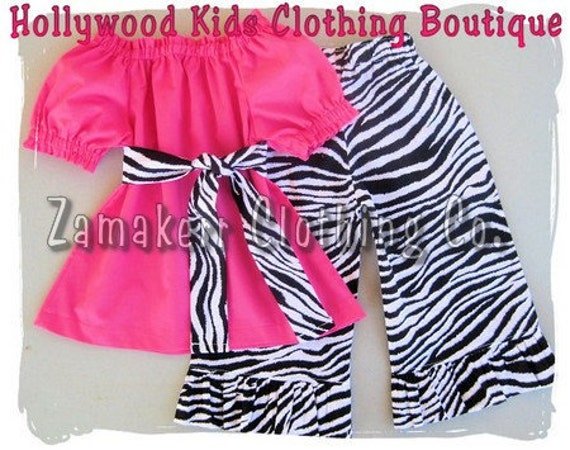 Custom Boutique Clothing Girl Birthday Outfit Peasant Dress Top Clothes Zebra Ruffled Pant Set Size 3 6 9 12 18 24 month 2T 3T 4T 5T 6 7 8