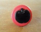 Bobbing for Apples Vintage Button Ring