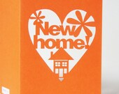 New Home Papercut Celebration Greetings Card