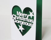 Cut Out Merry Christmas Gorgeous Card