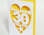 Personalised Any Occasion Hand Cut Greetings Card