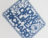 Papercut Personalised Poster - Hand Cut To Order