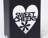 Sweet Cheeks Papercut Valentine Greetings Card - Black Red or Purple