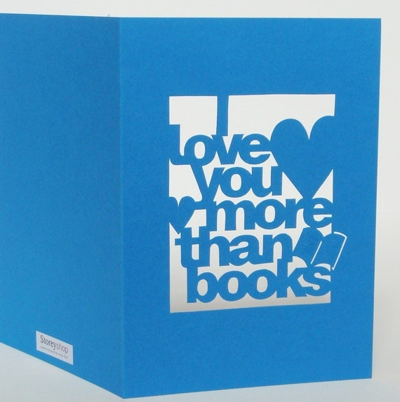 Hand Cut I Love You More Than.. Personalised Anniversary Card