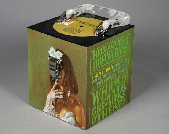 Recycled Record CD Case or Keepsake Box - Herb Alpert's Tijuana Brass - Whipped Cream and Other Delights