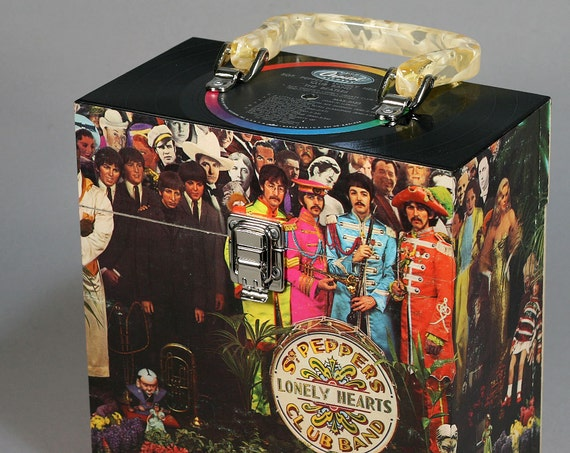 Recycled Record 7-inch 45 Carry Case - The Beatles - Sgt. Pepper