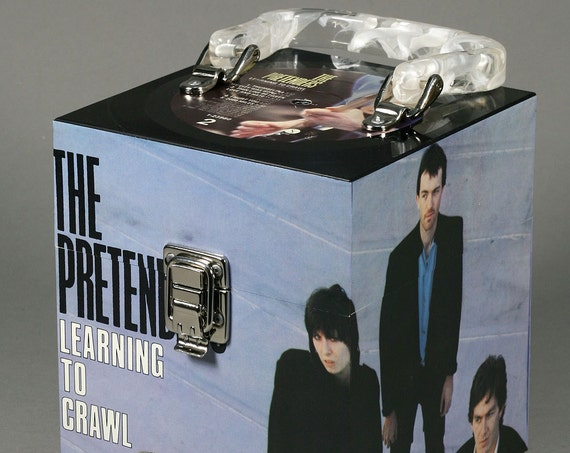Pretenders CD Case or Keepsake Box Handmade from Recycled Record - Learning To Crawl