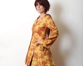 Sunny Jacket Frock Coat with Goblin Hood - Yellow and Red Clothing- sz M - SALE