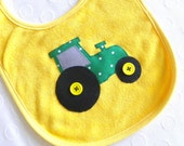 Big Green Tractor Bib