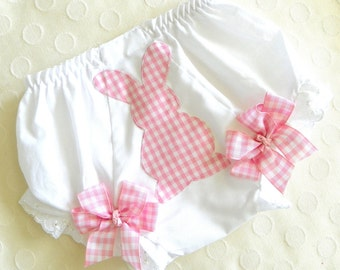 Little Diva Bunny Bloomers-Pink Purple or Blue