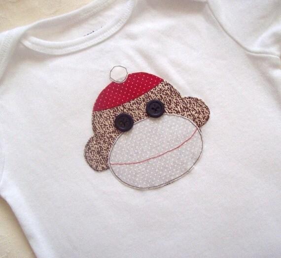 Sock Monkey Baby Bodysuit