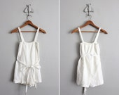 1950s vintage white mesh sack swimsuit