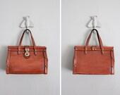 1960s vintage John Romain whiskey leather studded handbag