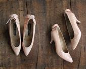 1980s vintage pink leather Maud Frizon heels 7