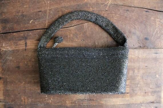 1930s beaded purse / seed bead handbag