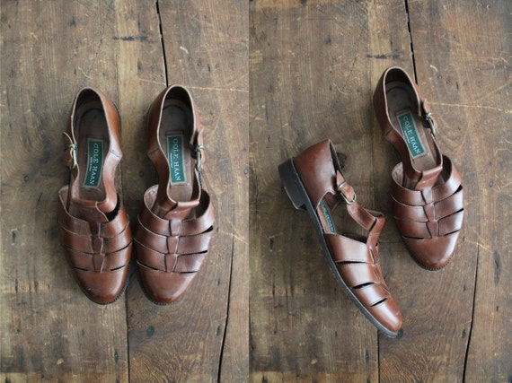 vintage Cole Haan brown leather sandals / size 6.5