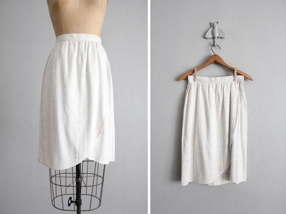 vintage neutral heather tulip skirt