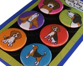 Beagle Silly Dog Magnet Set
