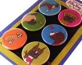 Boxer Magnet Set Silly Dog Magnets