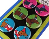 Party Dachshunds Silly Dog Magnets