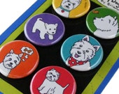 Westie West Highland Terrier Magnet Set