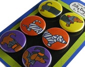 Halloween Dachshunds Silly Dog Magnet Gift Set
