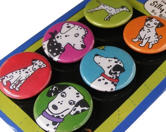Dalmatian Silly Dog Magnet Set