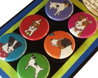 Parson Jack Russell Terrier Silly Dog Magnet Set