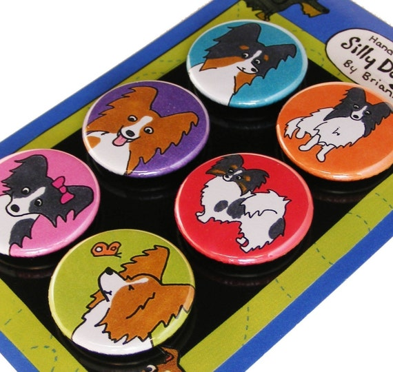 Papillon Silly Dog Magnets