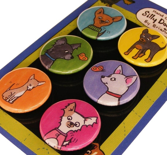 Chihuahua Magnet Set Silly Dog Magnets