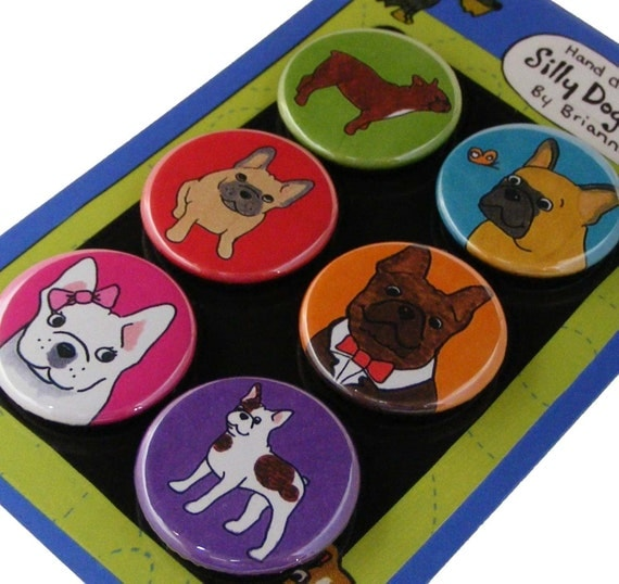 French Bulldog Silly Dog Magnet Set