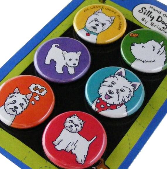 Westie West Highland Terrier Magnet Set