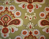 Amy Butler Belle Green French Wallpaper Fabric Fat Quarter