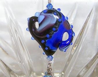 Lampwork Glass Bead Pendant Necklace I'm a Little Teapot Pendant