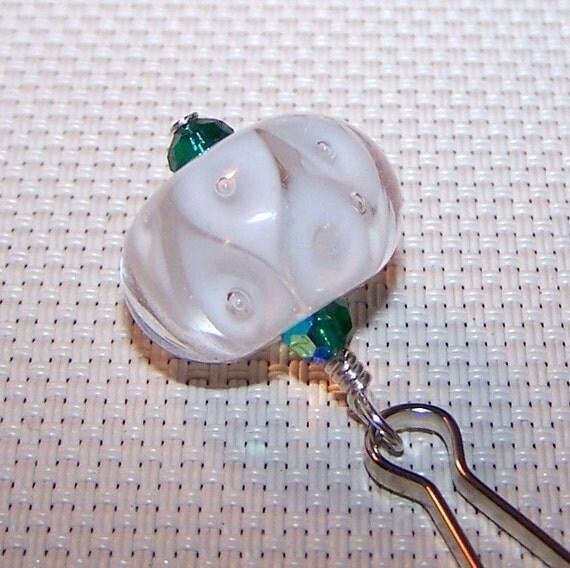 Purse Zipper Pull, Handmade Lampwork Glass Bead, Lampwork Bead Accessory