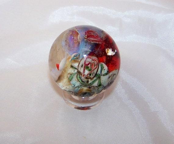 Handmade Glass Marble Sealife Hidden Treasures