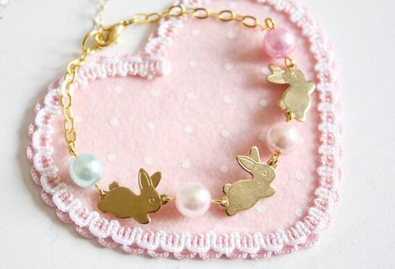 Bunny Pastel Charms Bracelet